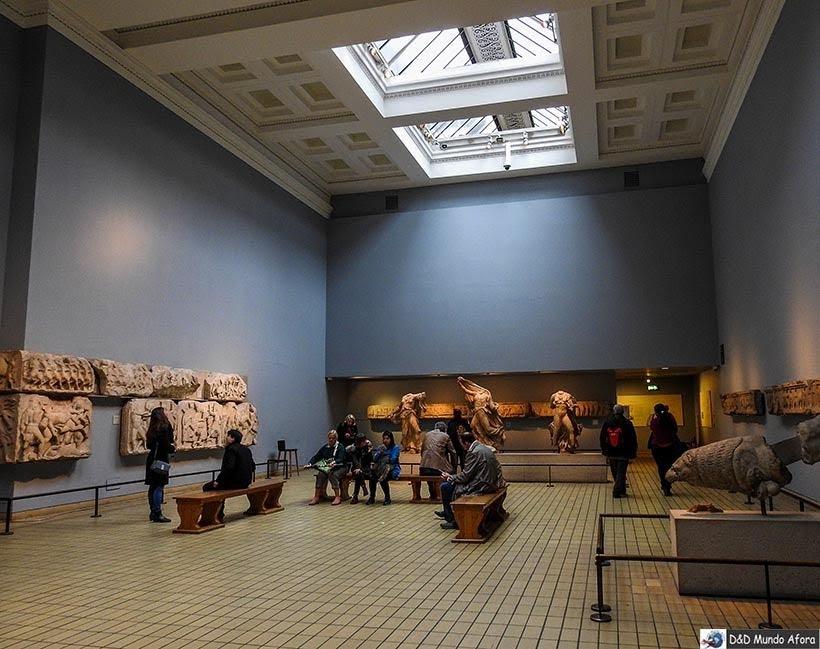 Mármores de Elgin - seção grega do British Museum em Londres