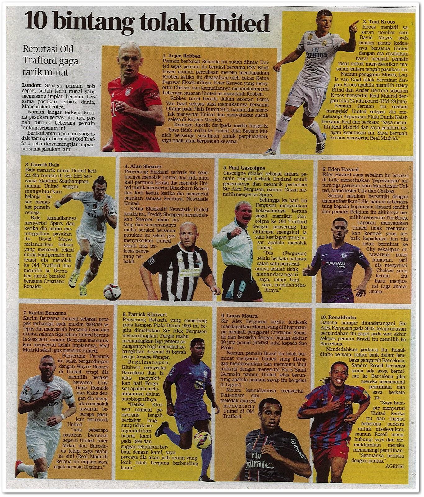10 bintang tolak United