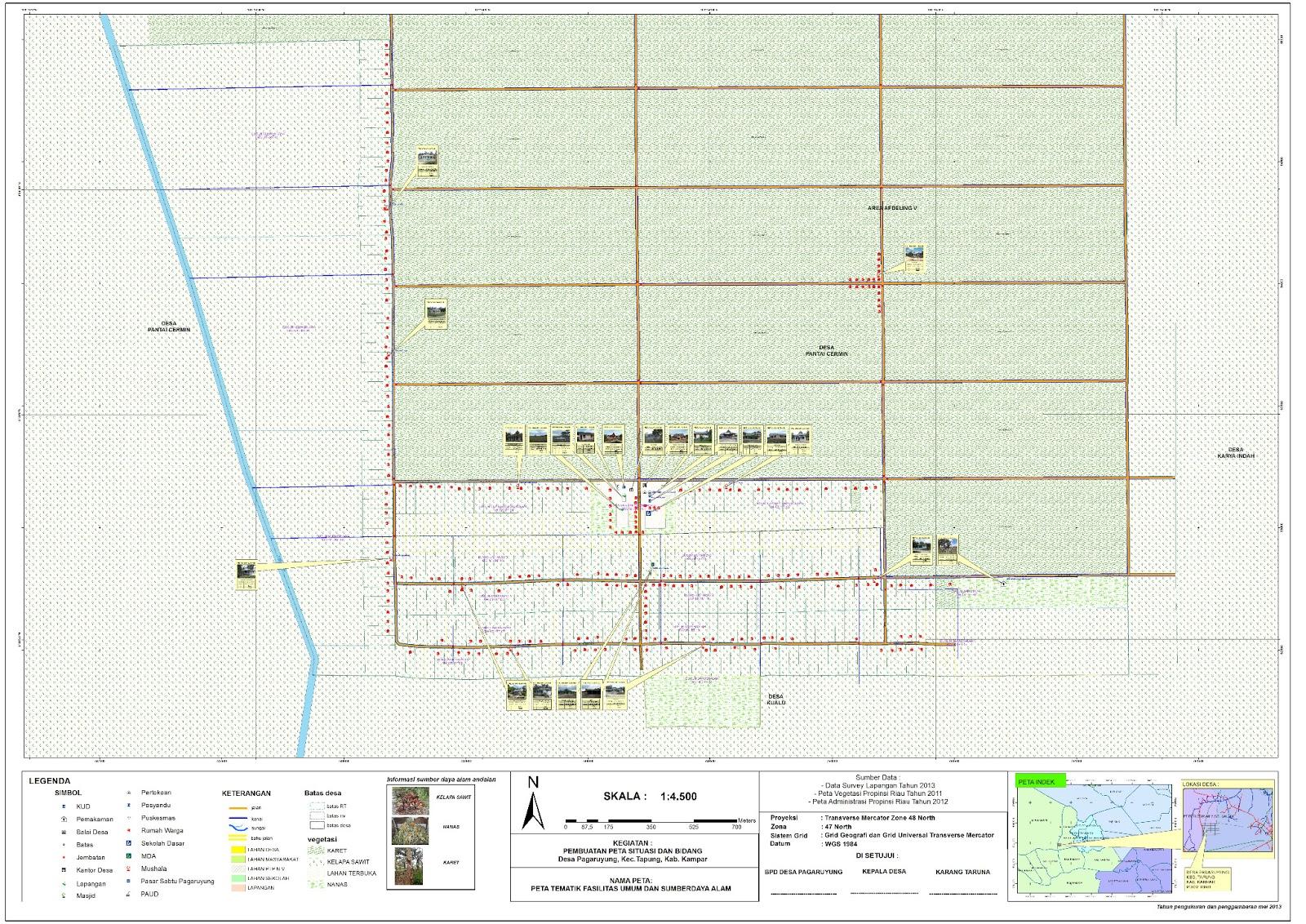 Yudi's_putrakarya_blog: Peta Desa Pagaruyung, tapung ...