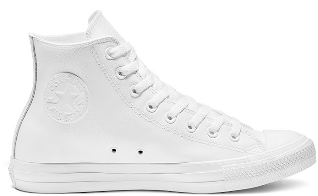 Converse Chuck Taylor Leather White Monochrome