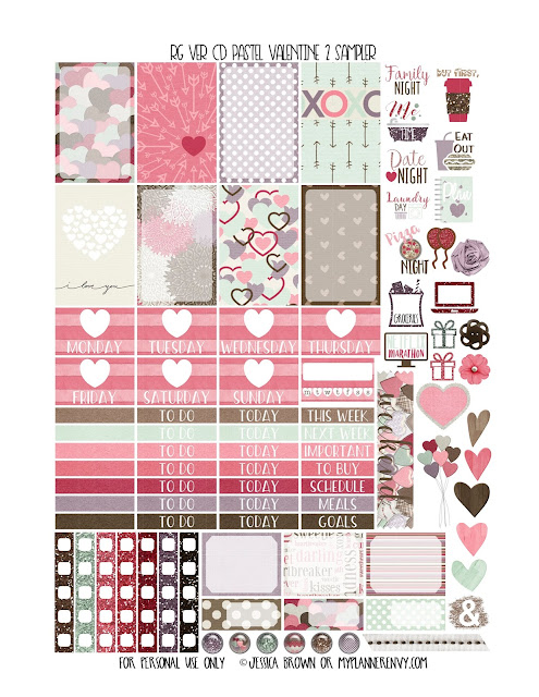 Free Printable Pastel Valentine 2 Sampler for the Reset Girl Vertical Carpe Diem Inserts from myplannerenvy.com