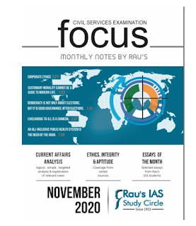 Raus IAS Focus Magazine November 2020 PDF Download. This is very useful for various exams like UPSC, IAS and other competitive exams