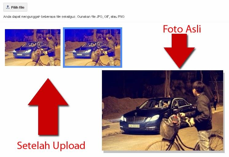 Hasil Upload Foto di Blogger Berubah Warna