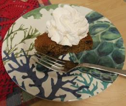 Applesauce Spice Chocolate Chip Cake, serve plain or glazed.