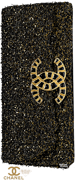 Brilliant Luxury♦Chanel Tweed Clutch in #black and #gold #bags