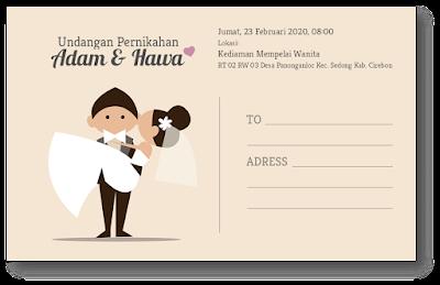 contoh undangan pernikahan unik dan bermanfaat
