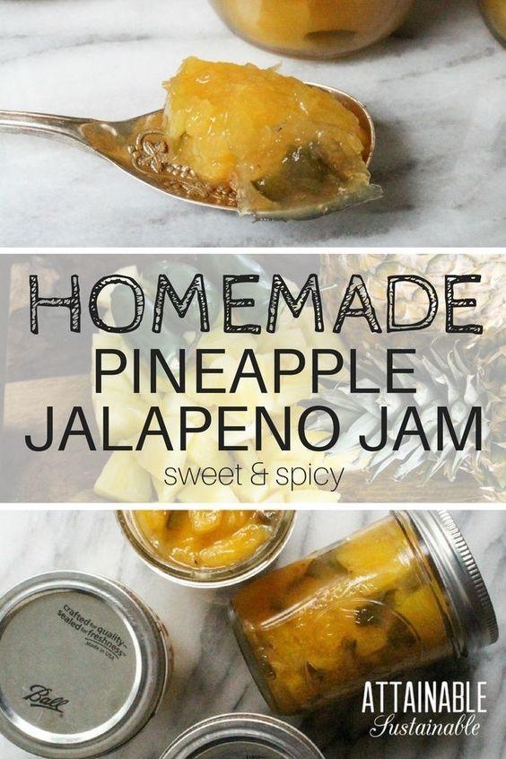 Pineapple Jam Recipe With Jalapeño Peppers