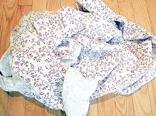 duvet rag pile for wreath