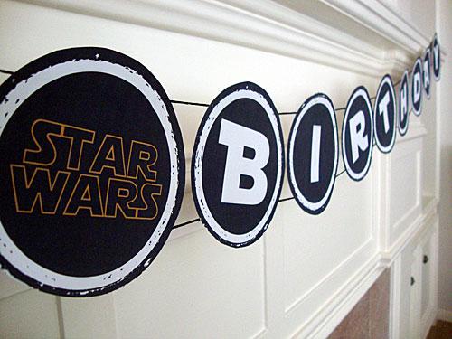 Libbie Grove Design Free Printable Star Wars Birthday Banner
