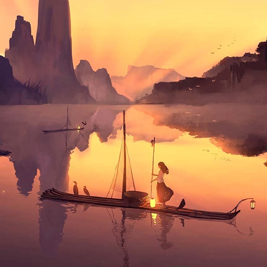 Serenity - Anime Landscape Wallpaper Engine | Download ...