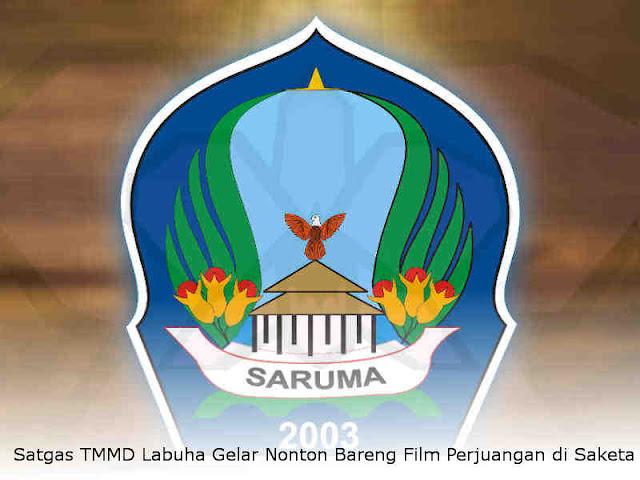 Satgas TMMD Labuha Gelar Nonton Bareng Film Perjuangan di Saketa