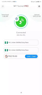 Latest Airtel 500MB Free browsing Using WT Tunnel Pro