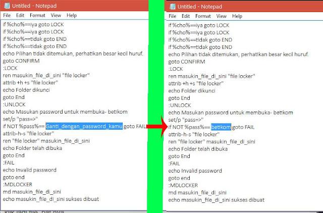 membuat password untuk file di flashdisk dan hardisk