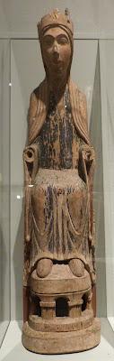 ROMÁNICO EN NUEVA YORK. THE MET. Virgen trono