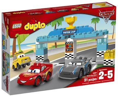 LEGO Duplo : Cars 3 - 10857 Carrera de la Copa Piston | Disney 2017 | JUEGO DE CONSTRUCCION | JUGUETE CAJA