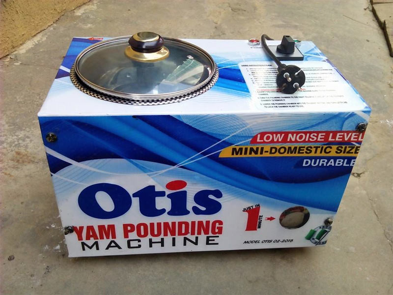 "Nigerian man manufactures ""yam pounder"""