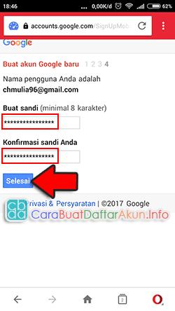cara buat email baru lewat hp opera mini