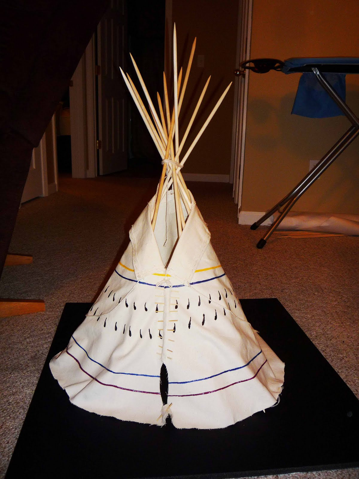 Salukitecture: My Experience Building a Scale Model Sioux Tipi
