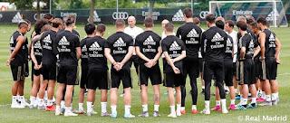 Zidane vuelve a la dinámica de trabajo en Montreal