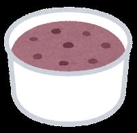 カップのアイスクリームのイラスト(あずき)