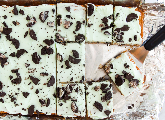 OREO Shamrock McFlurry®-Inspired Cookie Bars recipe