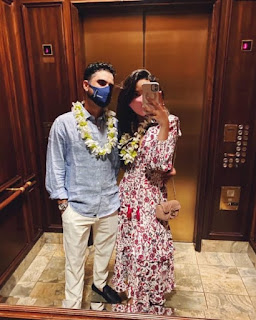 Abraham Ancer With His Girlfriend Nicole Curtright In Hawaiian Look