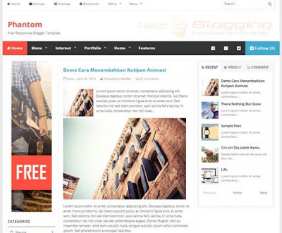 Phantom Responsive, Simple design Lifestyle, Magazine blog etc Breadcrumb Navigation Ready Tabbed Widget Ready White, Black, Blue, Orange color Left and Right Sidebars Post Thumbnails SEO Ready 3 Columns layout 4 Columns footer Blogger Template Download