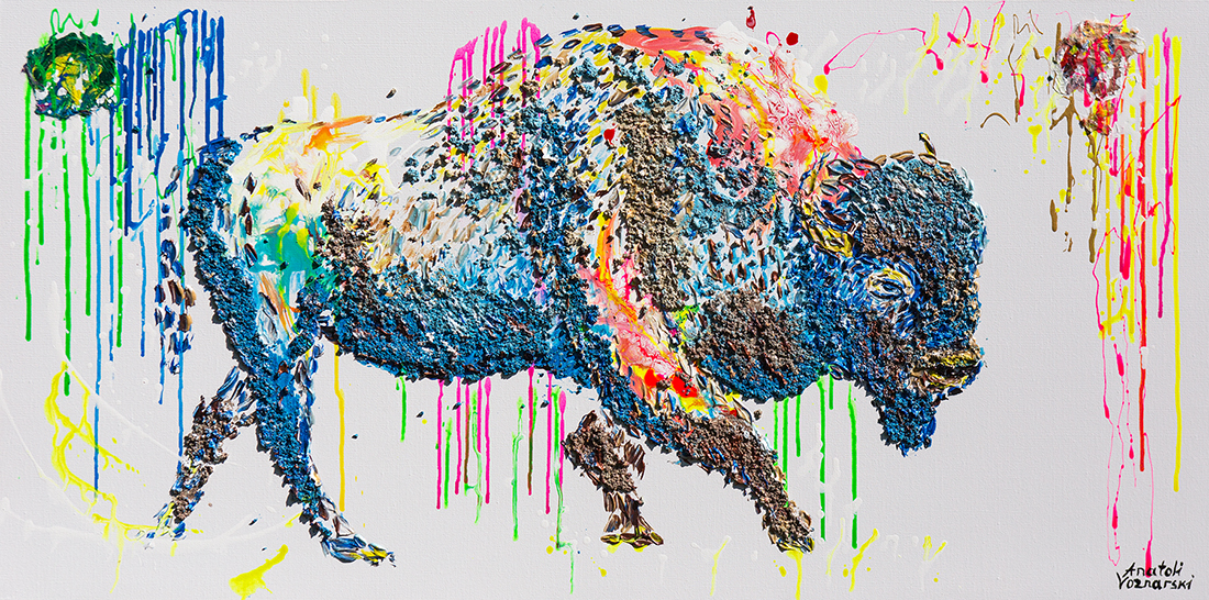 buffalo painting,buffalo unique texture, bizon painting,  buffalo voznarski, buffalo 3d artwork,  buffalo pop art, abstract buffalo painting, buffalo on canvas, buffalo oil ,buffalo 3d painting, buffalo acrylic,buffalo impasto,  buffalo 3d textured,