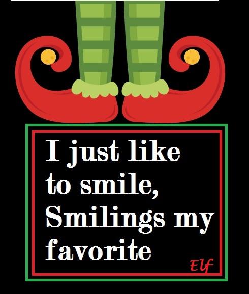 Elf quote, smiling, film