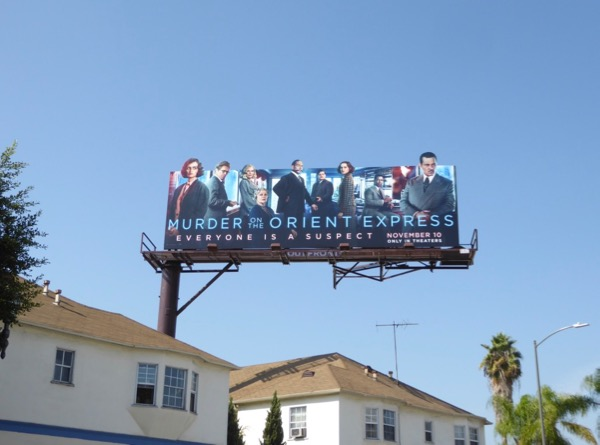 Murder on the Orient Express cut-out billboard