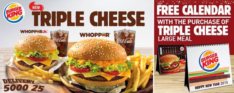 Triple Cheese Whopper Burger King