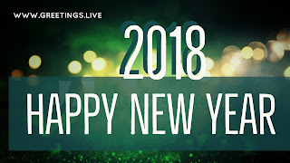 All green greetings New Year 2018