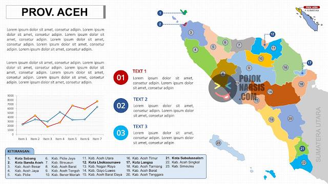 Gambar peta ACEH HD Powerpoint