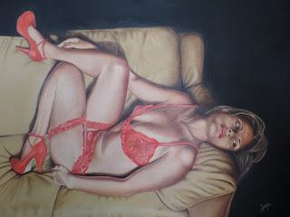 Seducción artistas realistas Jorge Marin pintores Colombianos, Artistas Colombianos