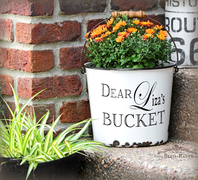 Dear Liza's Vintage Enamelware Bucket Bliss-Ranch.com