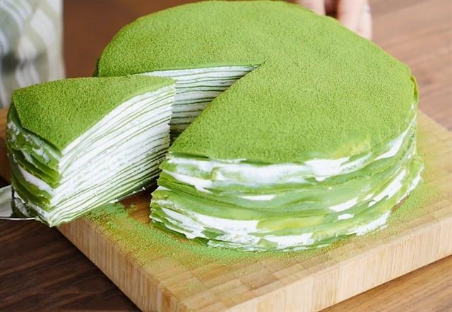 Bánh crepe trà xanh ngàn lớp