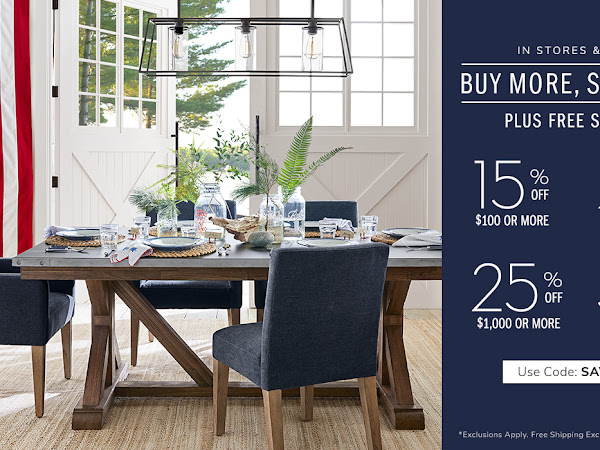 Pottery Barn Memorial Day Sale