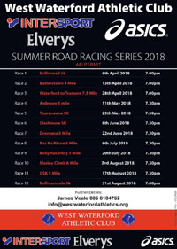 West Waterford Summer Race Series...Apr-Aug 2018
