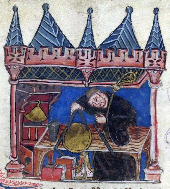 Richard, abade de Wallingford em trabalhos de trigonometria, History of the abbots of St Albans, século XIV, British Library