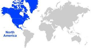 image: North America Map Location