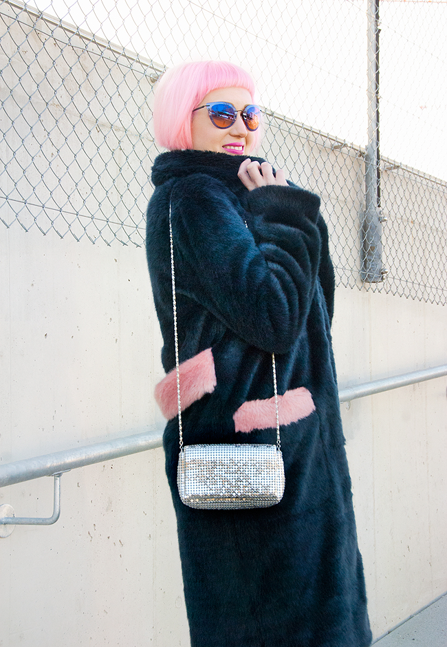 blogger look, Shirmps coat, faux fur coat