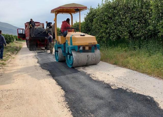 Παρεμβάσεις αποκατάστασης σε επαρχιακούς δρόμους από τον Δήμο Ναυπλιέων