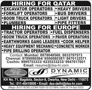 Europe job, Dynamic staffing Services