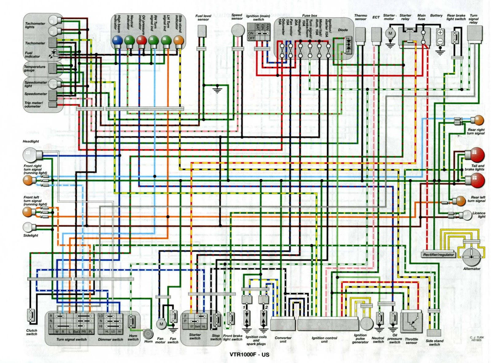 Wire Diagram Honda Rc51 - Wiring Diagrams DataUssel
