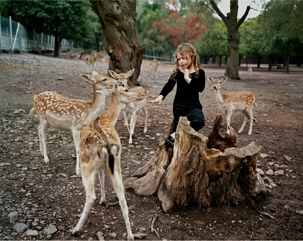 Girl with Wild Animals