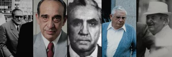 Paul Castellano, Carmine (The Snake Persico), Phil (Rusty) Rastelli, Anthony (Tony Ducks) Corallo, Fat Tony Salerno.