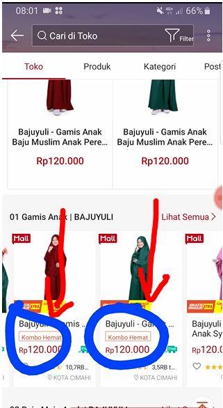 pilih produk Kombo Hemat di Shopee