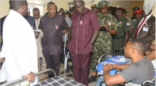 Soldiers who sustained injuries in the fight against Boko Haram, cries for help
