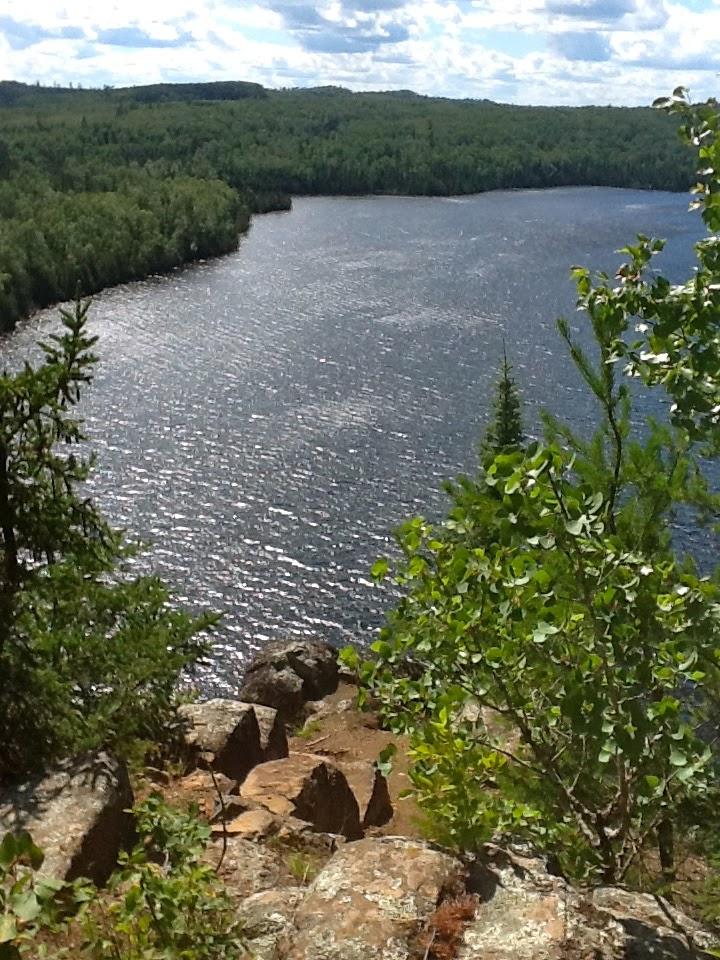 Honeymoon Bluff on Gunflint Trail in Minnesota