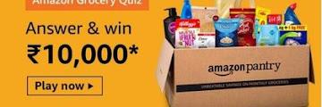 Amazon Grocery Quiz Answers Win - Rs.10000 Amazon Pay Balance
